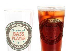 bass player pint glass