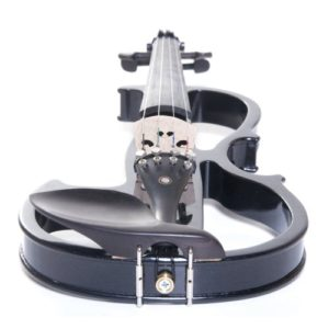 Cecilio 4/4 CEVN-2BK Solid Wood Electric/Silent Violin with Ebony Fittings