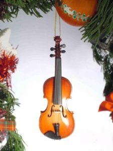 violin xmas ornament