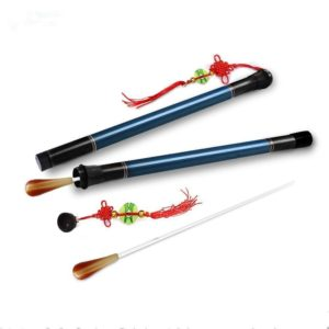 "Aibay1 Pair 15"" Music Conductor Baton with Brown Imitation Agate Handle"