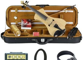 Bunnel NEXT Electric Violin Outfit Natural Flame Amp