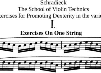 schradieck violin technic