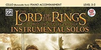 lord of the rings play along book cello