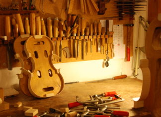 making a violin