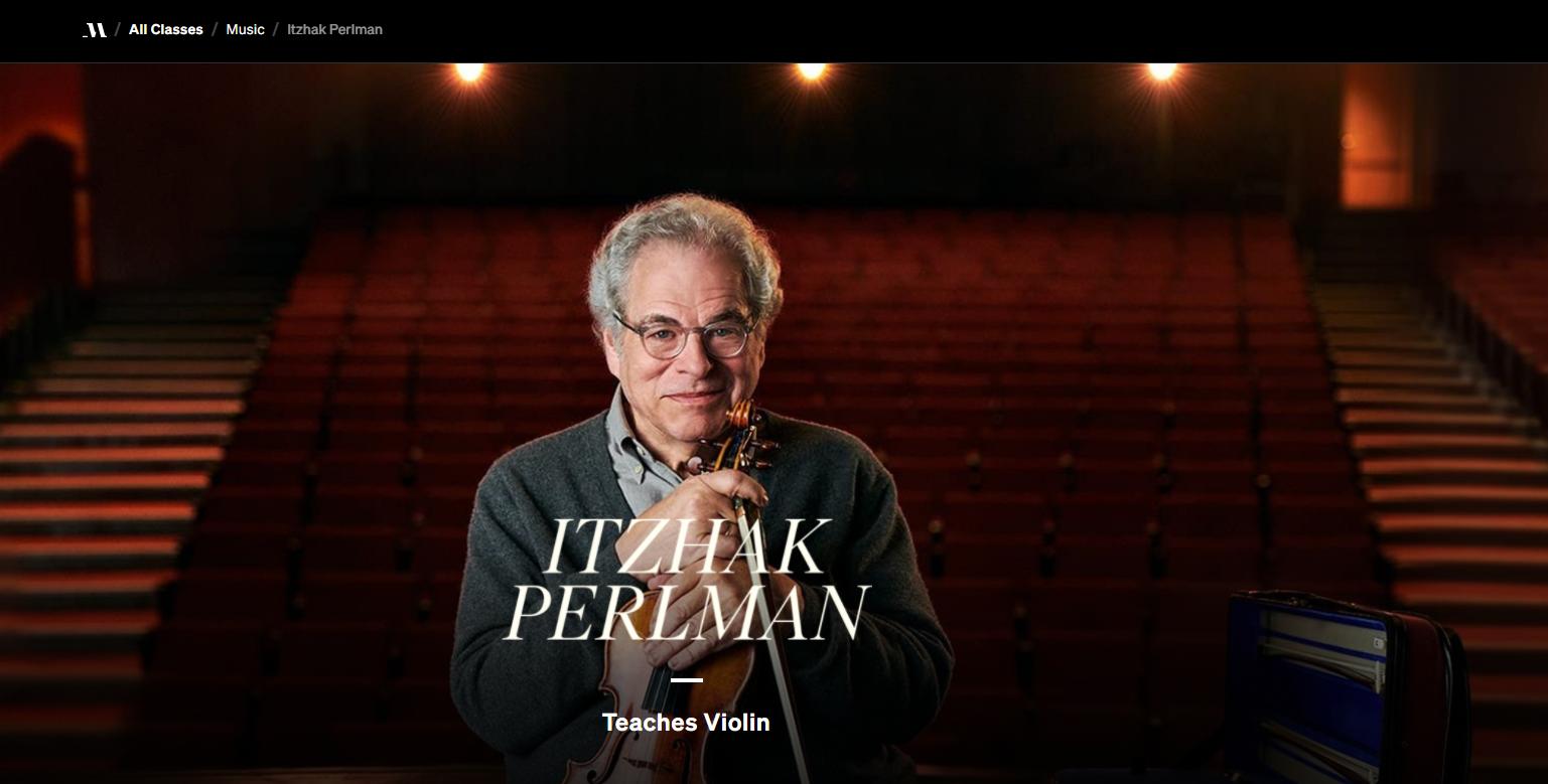 Itzhak Perlman teaches violin lessons online