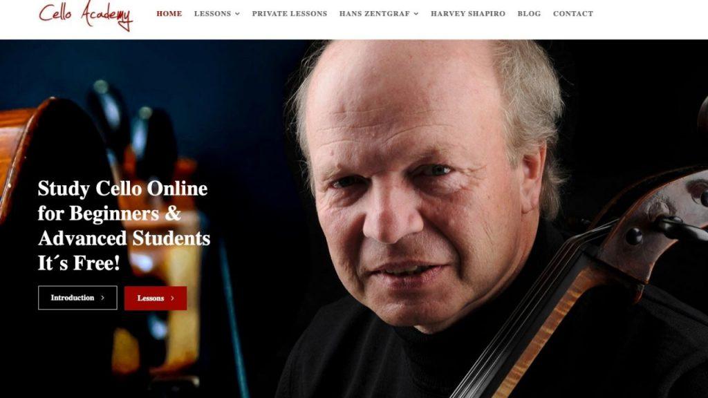 Website of Cello Academy