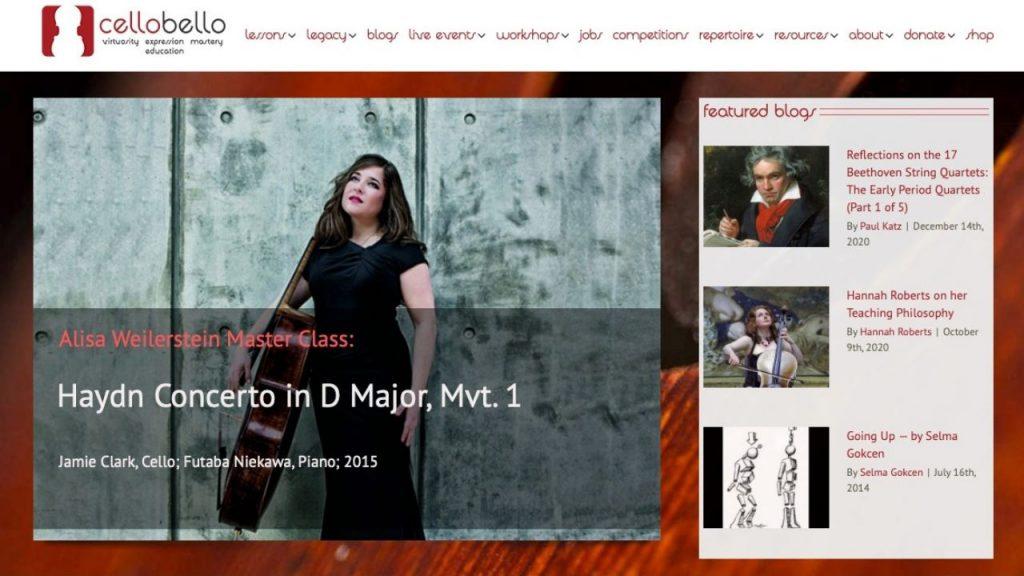 Website of CelloBello