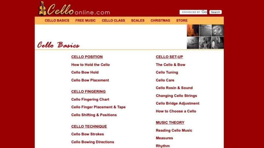 Website of Cello Online