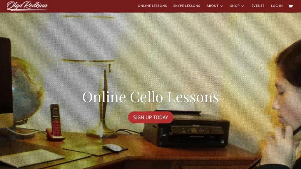 Olga Redkina's online cello lessons