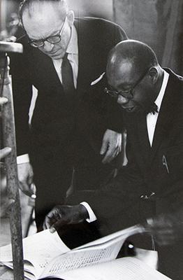 Photo of Benjamin Steinberg And Prof. George Walker