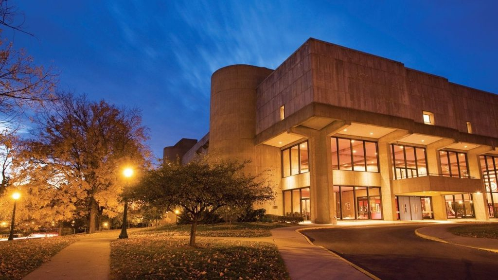 Exterior of Indiana University Jacobs Music