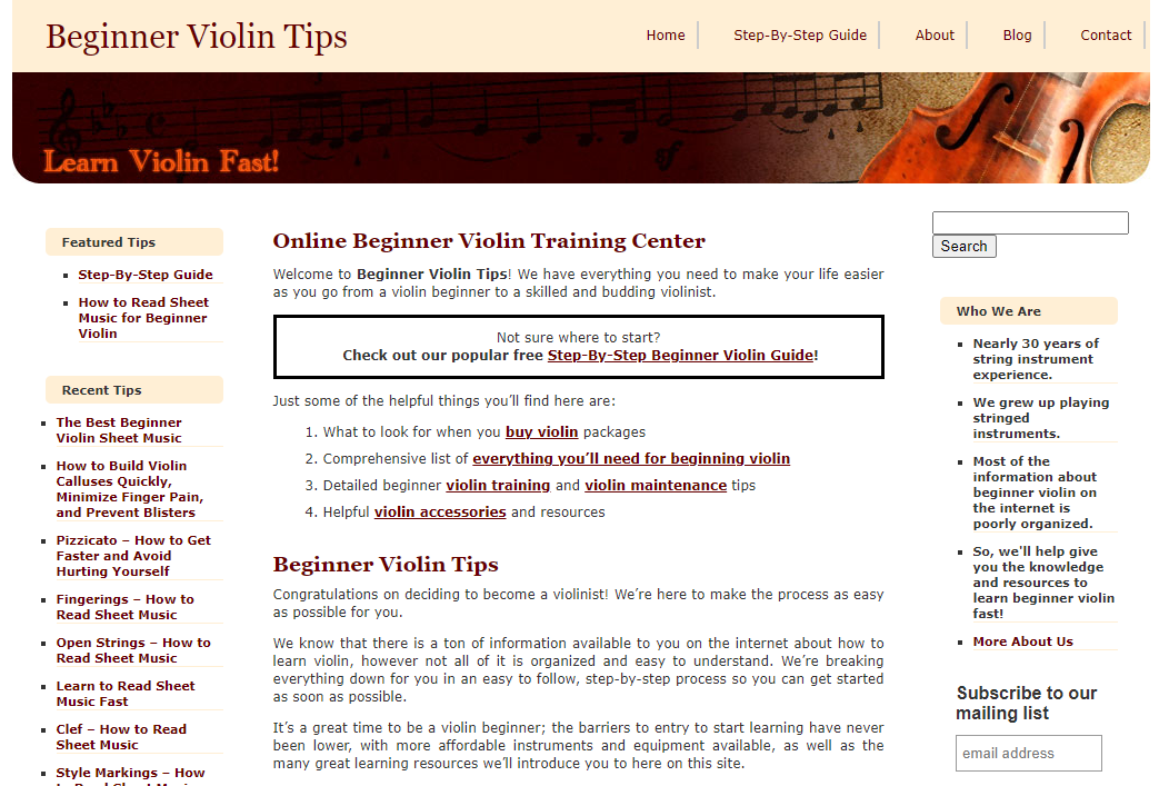 Beginner Violin Tips - online violin lessons