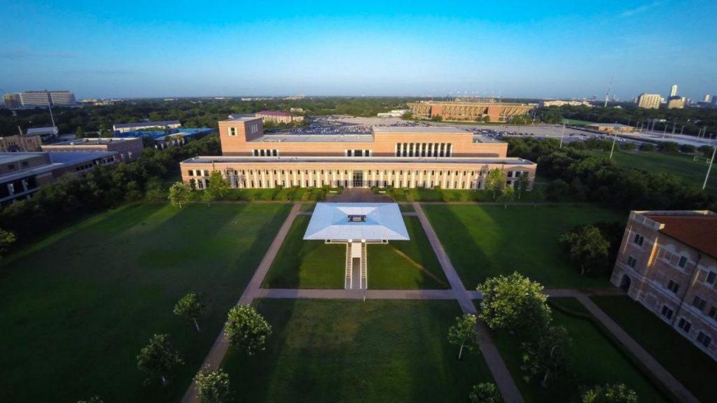 Aerial view of Shepherd School of Music