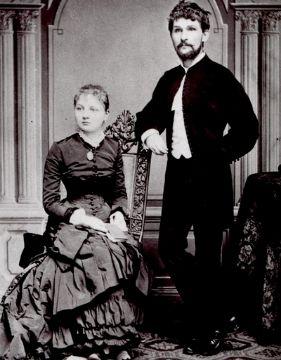 One of the greatest Czech Leoš Janáček with his wife.