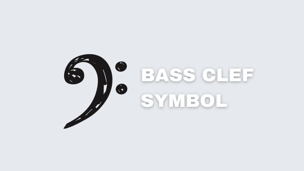 picture showing the symbol of a bass clef