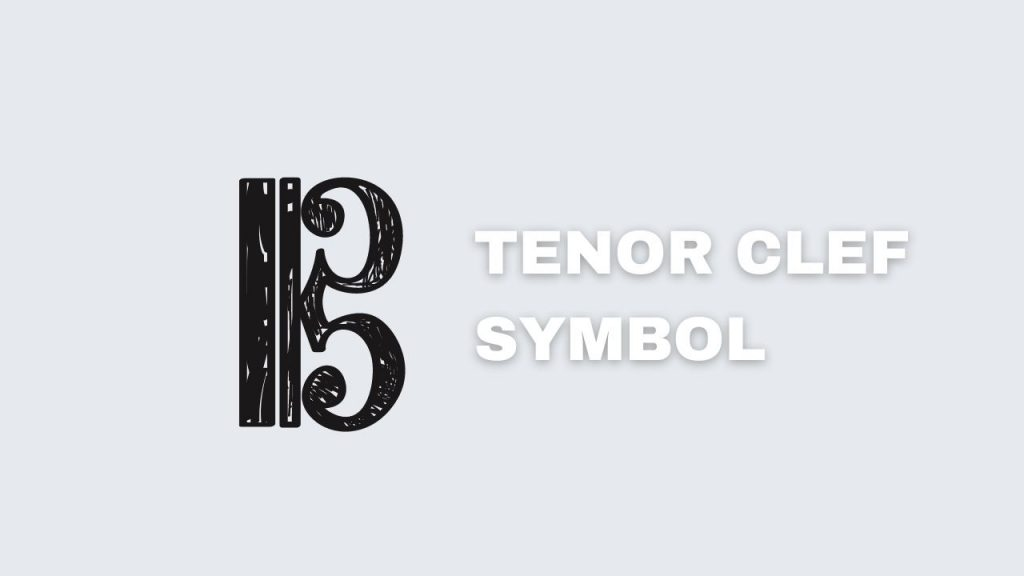 A picture showing the tenor clef's symbol