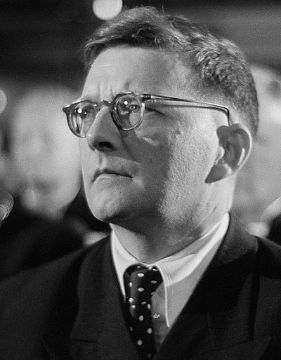 A photo of Dmitri Dmitriyevich Shostakovich, a well-known composer of the 20th century