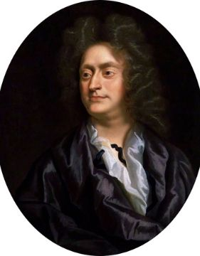 A portrait of Baroque composer Henry Purcell