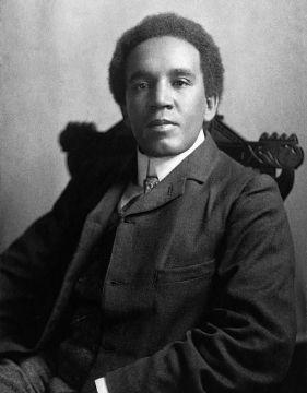 A photo of Samuel Coleridge Taylor, a black composer