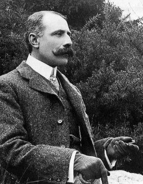 A picture of Sir Edward W. Elgar, one of the top composers of 20th century